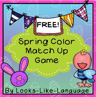 Free color matching open ended Spring game from Looks-Like-Language!