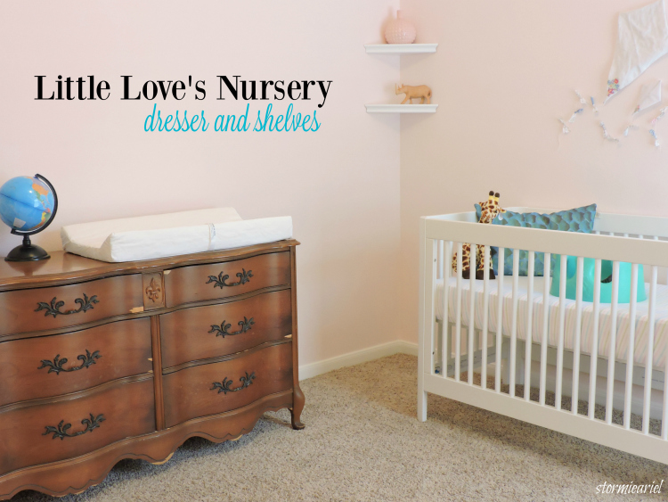 Baby Girl Nursery | Dresser & Shelves