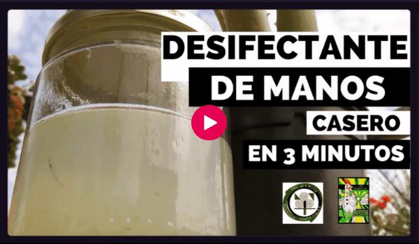 Video Cómo se hace un desinfectante casero para manos