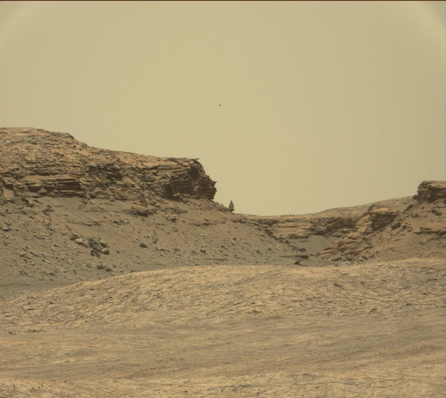 This is the Mars Rover photo I zoomed in to and saw the UFO.