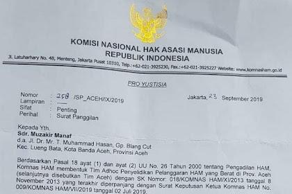 Ka Meuramah! Mualem Jimeuhei Le Komnas HAM u Jakarta