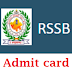 RSMSSB PTI Admit card 2018 Download Available Advt No. 09/2018