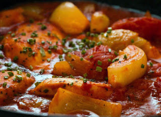 South African Chicken Tomato Stew