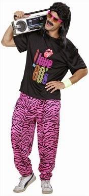 80s Zebra Print Skidz Pants Costume