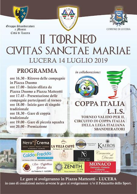Lucera (FG), II Torneo Civitas Sanctae Mariae, fase finale del girone di Coppa Italia Sud