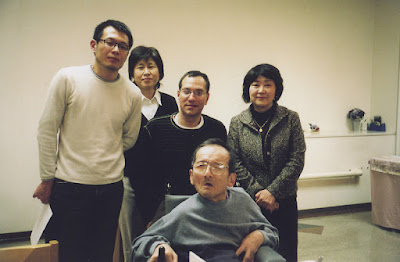 Group picture from the interview. From left to right: Aieo-san, Kohyama Chikako, Kenny Fries, Ueno Etsuko, Hanada Shuncho (seated).