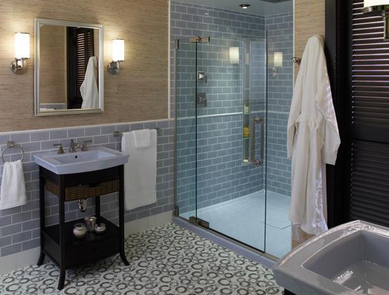 Ba os modernos ba o moderno con ducha for Decoracion de banos modernos economicos