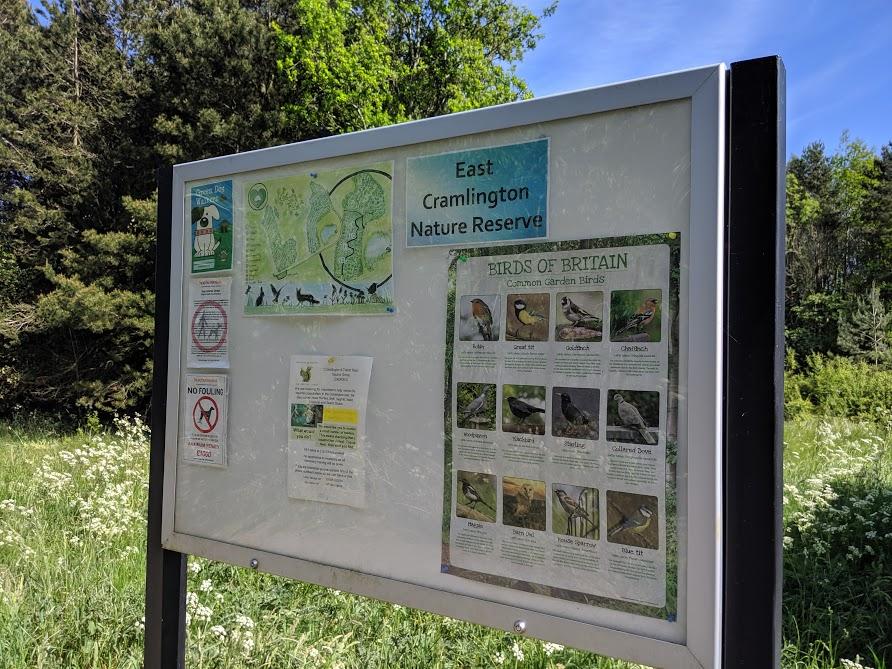 East Cramlington Nature Reserve Trail - info board