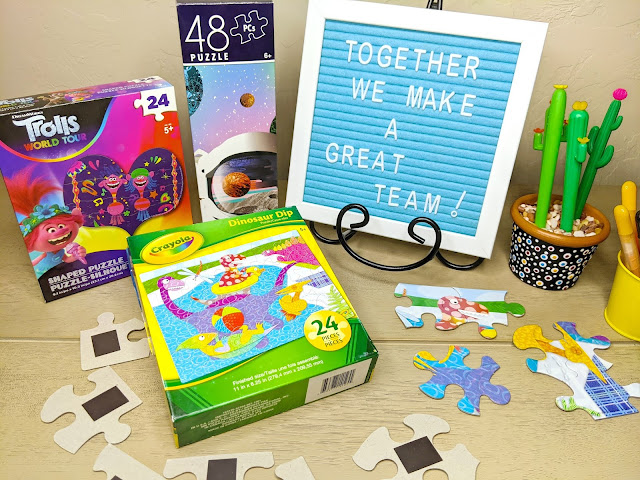 Use a simple jigsaw puzzle to encourage positive behavior.