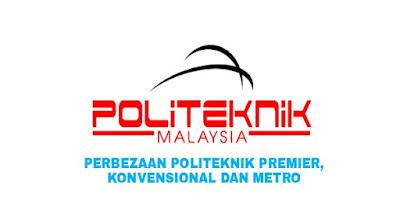 Perbezaan Politeknik Premier, Konvensional dan METrO