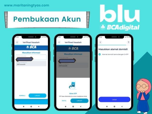 cara membuat bluAccount step 4