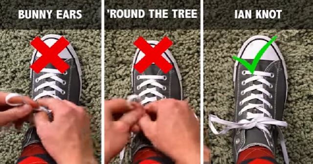 Here Is A Simple Trick You're Tying Your Shoelaces Wrong