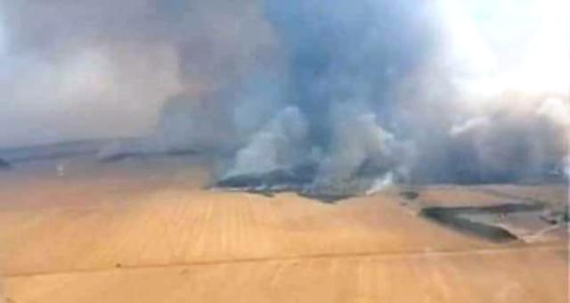 Fogo destrói área de palhada, pasto e reserva há quase uma semana entre Diamantino e Alto Paraguai.