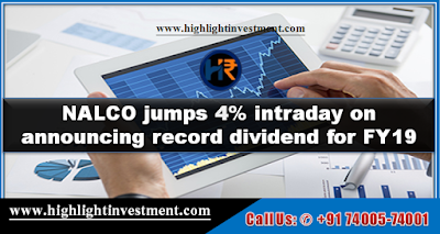 NALCO jumps 4% intraday on announcing record dividend for FY19