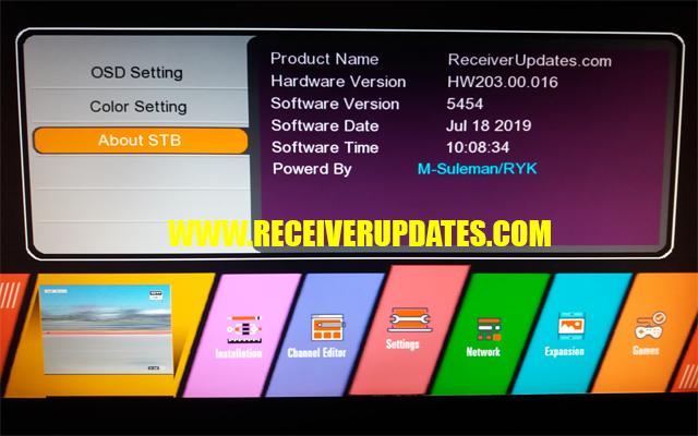 GX6605S HW203 00 016 NEW SOFTWARE WITH BEAUTIFUL MENU TEN SPORTS