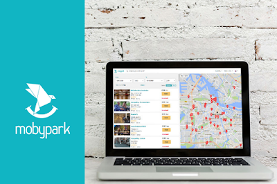 Mobypark earn money with your parking - Map overview on laptop