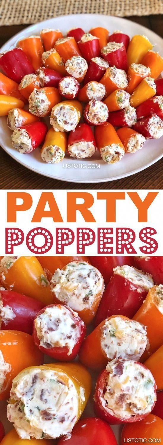 Stuffed Mini Peppers Recipe (Easy Appetizer)
