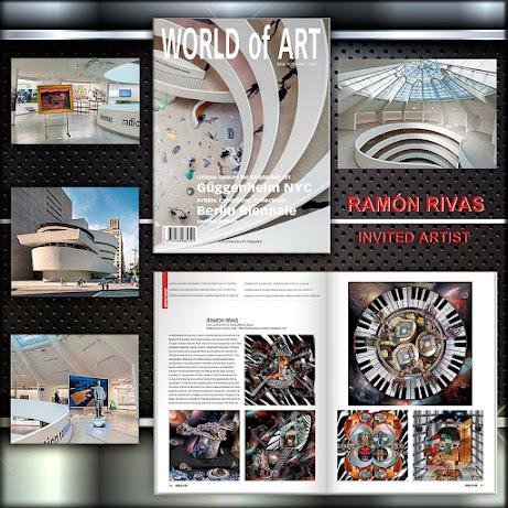 Ramón Rivas en la Revista WORLD of ART. Edición del 60 Aniversario del Museo Solomon R. Guggenheim, Nueva York