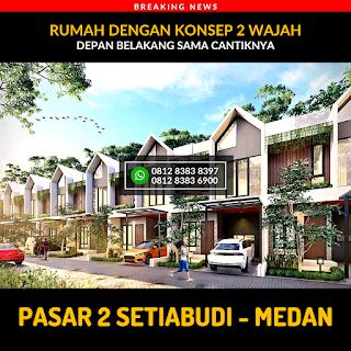 Rumah Cantik Mewah Berkualitas di Pasar 2 Setiabudi Ringroad Medan - Twin Luxury