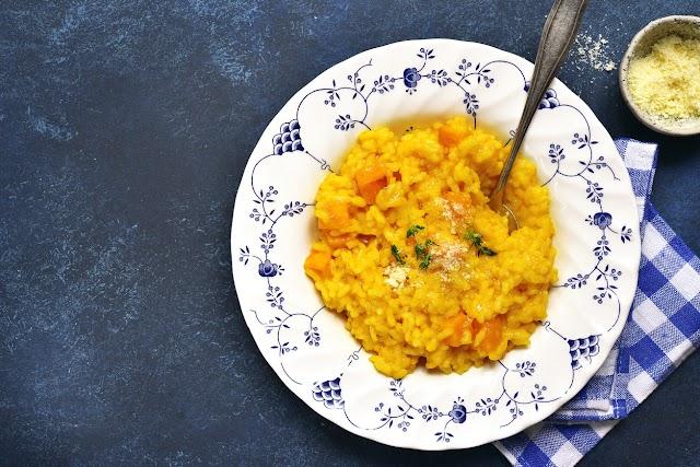 Sajtos, sütőtökös rizottó eredeti olasz recept szerint