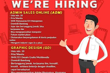 Info Lowongan Kerja Admin Sales Desain Grafis PT. Vapehitz