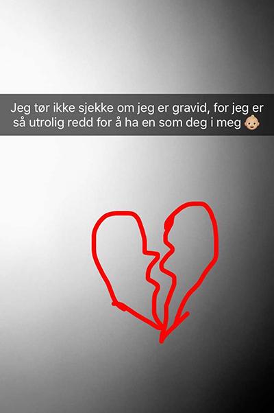 livmortappen gravid norske jenter snapchat