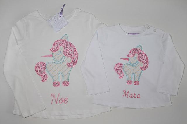 camisetas unicornio para dos hermanas