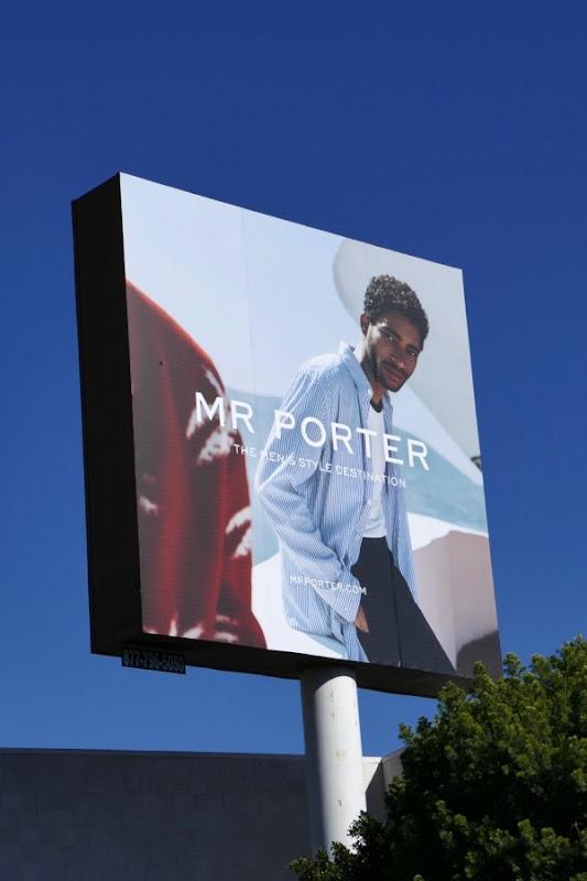 Mr Porter menswear Spring 2018 billboard