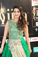 Manjusha in Beautiful Sleeveless Green Anarkali dress at IIFA Utsavam Awards 79.JPG