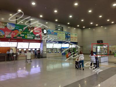 Ticketing counters at Kansai Airport train station