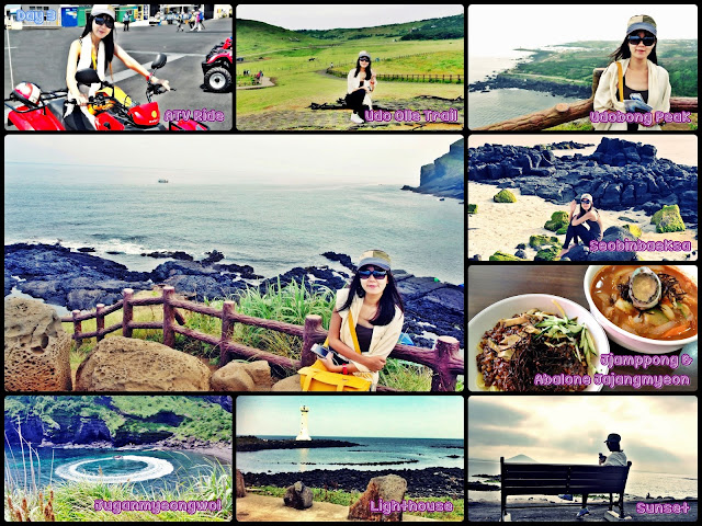 Udo Island (ATV ride to scenic spots of this beautiful island  and lazying at Seonbinbaeksa beach to catch sunset).