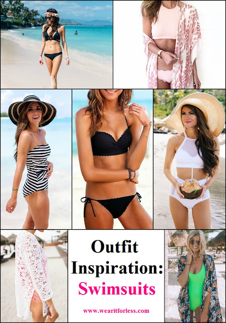 Swimsuits from The Darling Detail, Hello Fashion, For All Things Lovely, Victoria's Secret, Southern Curls and Pearls, and Barefoot Blonde