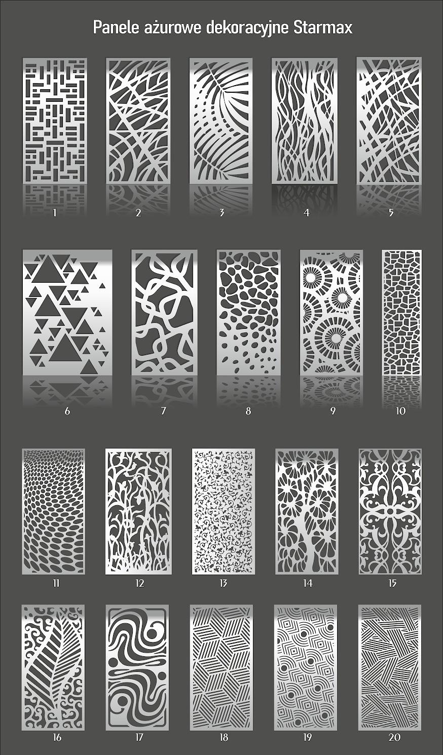 Pobierz wzory paneli ażurowych