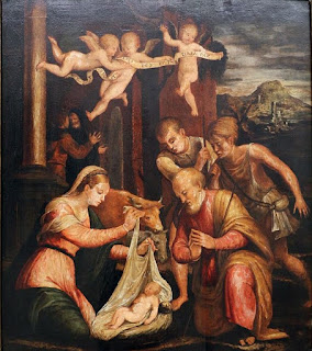 Luca Longhi's Adoration by the Shepherds can be seen at the Museo d'Arte della Città
