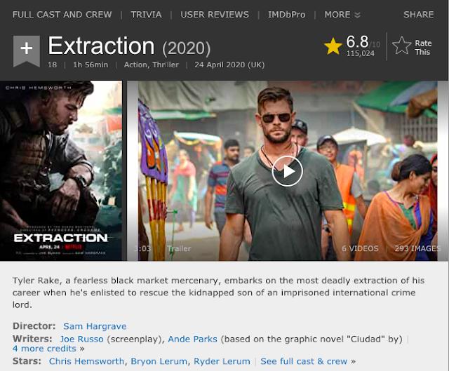 Download Extraction (2020) Dual Audio (Hindi-English) WeB-DL HD 480p [400MB] || 720p [1GB] || 1080p [3.2GB]