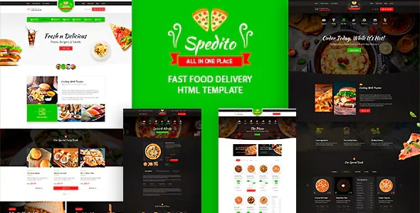 Ordering Fast Food Bootstrap Template