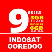 Harga Paket Internet Indosat Oooredoo 9 GB Masa Aktif 3 Bulan