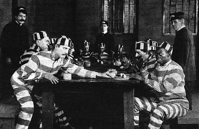 from a 1915 silent prison film with over-acting