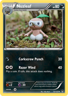 Nuzleaf BREAKpoint Pokemon Card