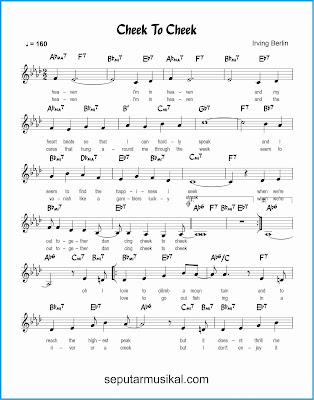 cheek to cheek 1 lagu jazz standar
