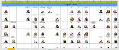college football games spreadsheet in excel
