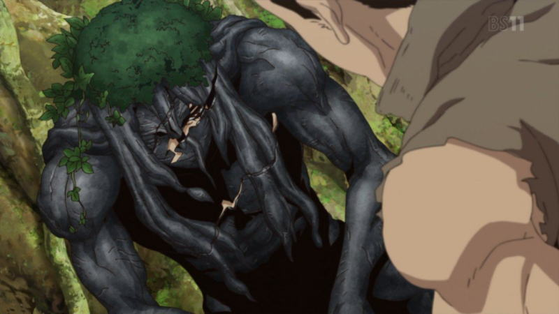アニメ「ドクターストーン」2話感想 石化を溶いた命の恩人が老害を憎む殺戮者だった