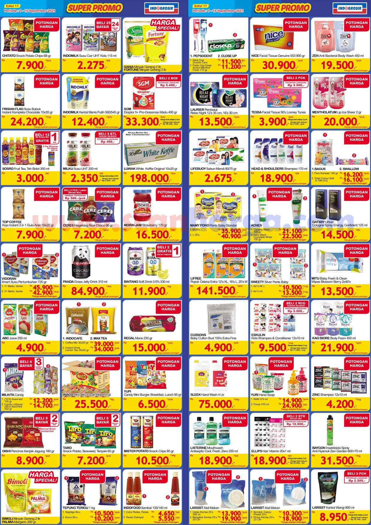 Katalog INDOGROSIR Super Promo Periode 1 - 15 September 2021 2