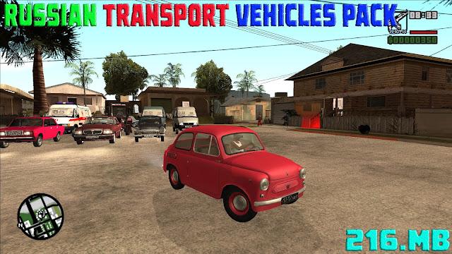 GTA San Andreas Russian Transport Vehicles Pack