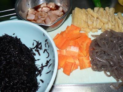 ひじき煮の準備