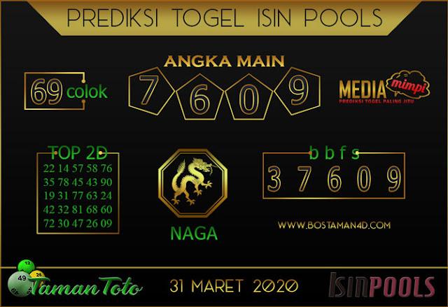 Prediksi Togel ISIN TAMAN TOTO 31 MARET 2020
