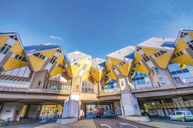 Casas Cubos em Roterdã