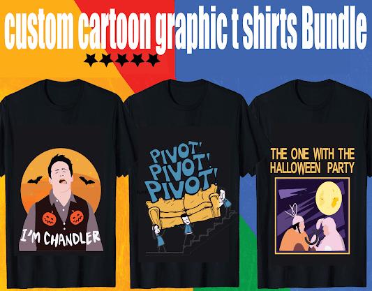 custom cartoon graphic t shirt design