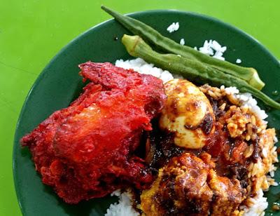 Nasi Kandar Pokok Ketapang Ayam Merah - Doc. Hungry Onion