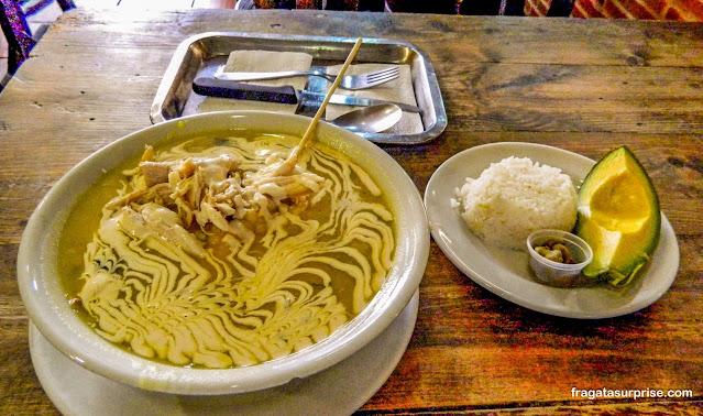 Ajiaco, sopa típica de Bogotá